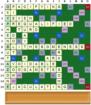 1785 points with SOWPODS words only with the rack ABEOPYZ rack